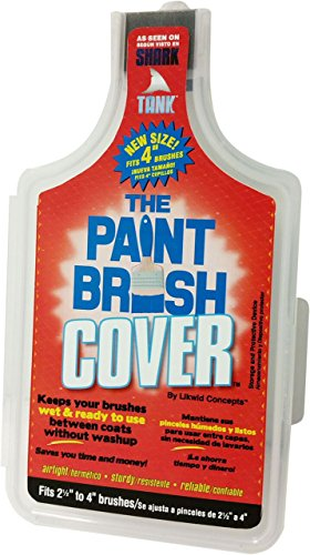 The Paint Brush Cover PBC004 Likwid 4 Inch, Red