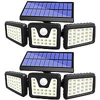 Aobisi 3 Adjustable Heads Solar Motion Sensor Outdoor Security Lights
