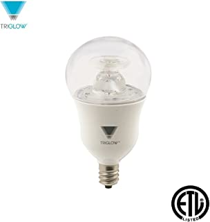 TriGlow T90267 7-Watt (40W Equivalent) Dimmable LED A15 Appliance Bulb, 3000K (Soft White), 450 Lumen, E12 Candelabra Base, ETL Listed