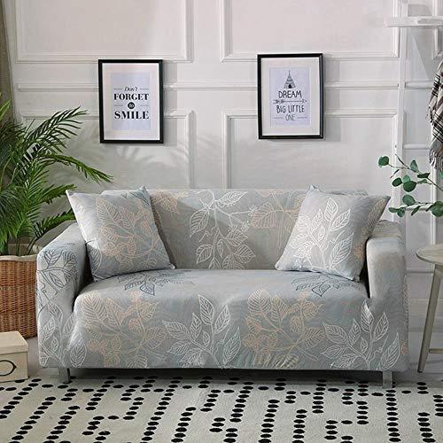 Funda de sofá gris Fundas para muebles elásticas Fundas de sofá elásticas para sala de estar Funda de asiento con funda deslizante funda de asiento de spandex sofá de 1-4 plazas, color 20,4-plazas (2