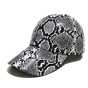 Snake Skin Print Leather Dad Hat Men Women Summer Baseball Cap Visor Caps Adjustable Bone Hats Gorras