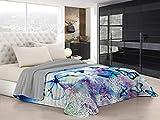 Italian Bed Linen Ki-Osa Trapuntino Estivo con Stampa in Digital, 100% Microfibra, Kio634 (Multicolore), Matrimoniale, 260 x 270 cm