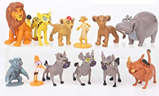 Supreme Cake Toppers Cupcake Decorations 12 Set with 10 Figures From The Lion King Movie, Movie Sticker and LKRing Featuri...