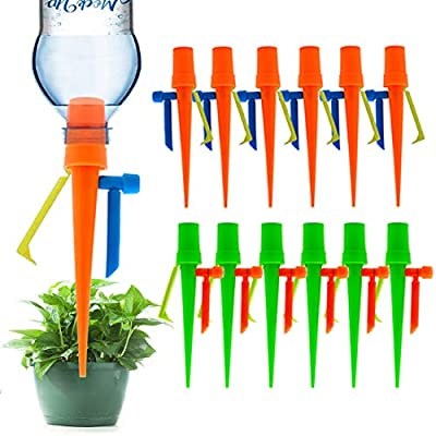 ?New Upgrade?Plant Self Watering Spikes,Universal Self Watering Devices With Slow Release Control Valve Switch Plant System Suitable for All Bottle,Automatic Vacation Drip Irrigation Watering-Non-stop from LAVIZO