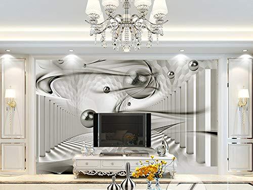Gewohnheit Irgendeine Größe Moderne Minimalistic 3D Kreis Korridor Hintergrund Wand Wandaufkleber Ausgangsdekor Tapete Wandbild
