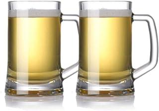 XMDD Beer Mugs, Beer Steins, Beer Glassware, Beer Mug, Bar Mugs, Large Glasses, Beer Mugs, 395ML, 500ML, 600ML, Suits (2 P...