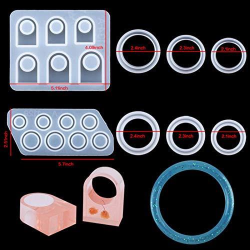 QTQHOME Moldes de resina de silicona, kit de moldes de resina epoxi para esculpir joyas, pendientes, manualidades, suministros de arte