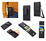 DFV mobile - Magnetic leather Holster Card Holder Case belt