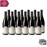 Bourgogne Pinot Noir Les Pourrières Rouge 2017 - Domaine René Bourgeon - Vin AOC Rouge de Bourgogne - Cépage Pinot Noir - Lot de 12x75cl