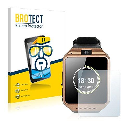 BROTECT Schutzfolie kompatibel mit Gearmax Smartwatch DZ09 (2 Stück) klare Displayschutz-Folie