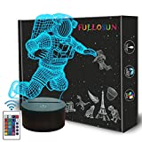 Spaceman 3D Night Light, Astronaut Rocket Optical Illusion Lamp Home Decor Bedroom Light with Remote Control 16 Colors Changing Marvel Xmas Birthday Gift for Outer Space Fan