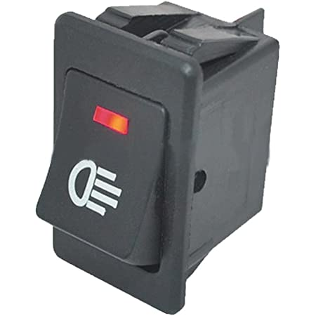 Mintice Kfz Auto Kippschalter Druckschalter Wippschalter Schalter 12v Rot Led Licht Nebelschalter 4 Polig Auto