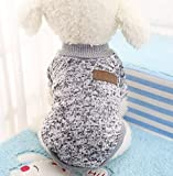 Beauty DIY Mart Caliente Ropa de Perros, Chaqueta Abrigo Cálido Suéter de Algodón de Invierno Otoño Suave para Perros Pequeños Gatos Cachorros Mascotas,Gris XL