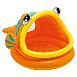 Intex - 57109 - Piscine gonflable enfant avec pare-soleil- Lazy Fish