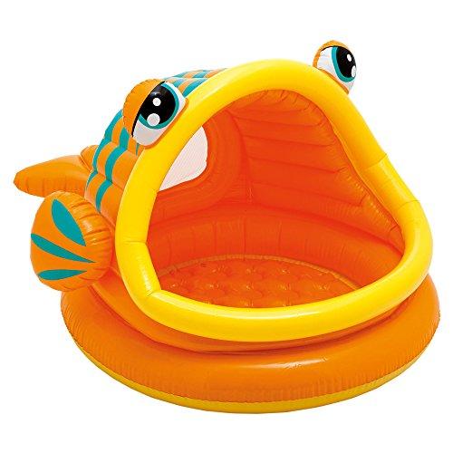 Intex- Baby Pesce Piscina, Multicolore, 124x109x71 cm,...