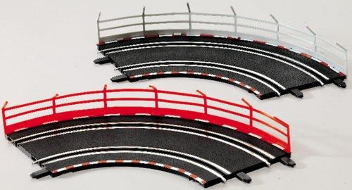 Carrera GO! Lot de 5 barrettes de pêche, 5 pièces rouges et 5 pièces blanches.