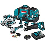 Makita XT612M 18V LXT Lithium-Ion Brushless Cordless 6-Pc. Combo Kit (4.0Ah)