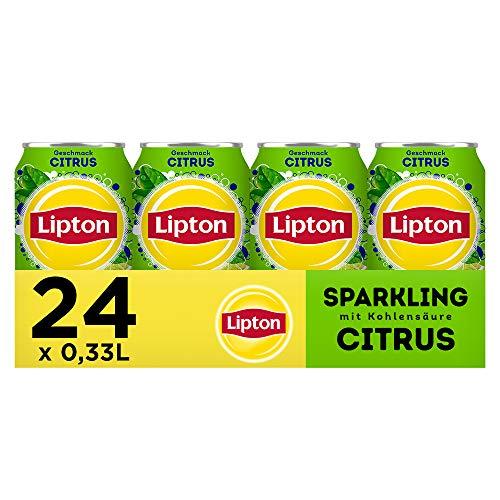 LIPTON ICE TEA Sparkling Citrus, Eistee mit Kohlensäure und Citrus Geschmack (24 x 0.33l)
