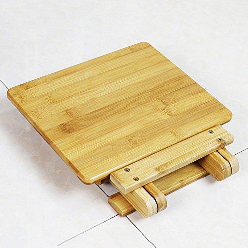 LJHA Tabouret pliable Repose-pieds en bois massif créatif en bambou/petit banc enfant/pliable/portable/chaise de pêche en plein air/tabouret carré adulte chaise patchwork (taille : 25cm)