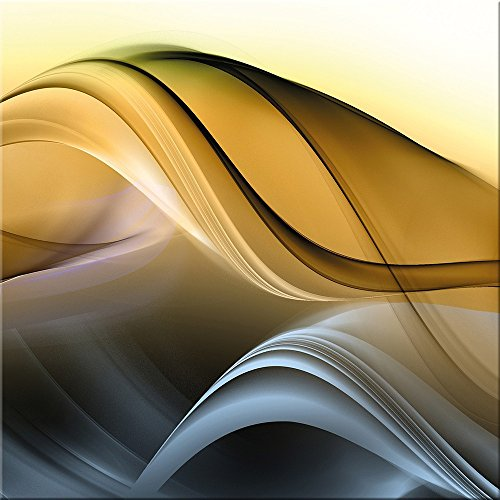 artissimo, Glasbild, 30x30cm, AG2096A, New Wave II, abstrakte Welle, bunt, Bild aus Glas, Moderne Wanddekoration aus Glas, Wandbild Wohnzimmer modern