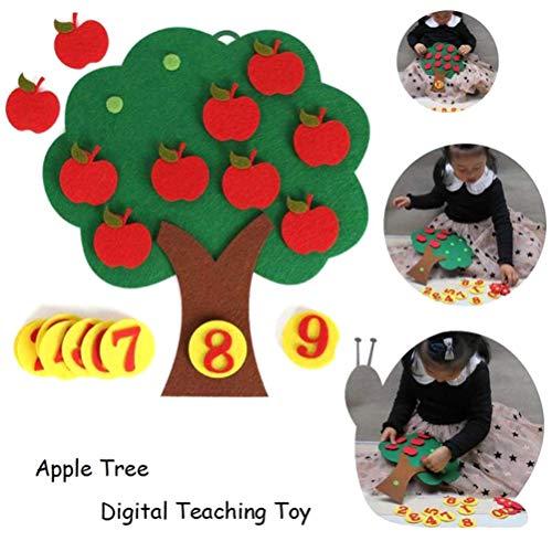 Sarplle Apple Tree Math Toys Jouets éducatifs pour Enfants à bricoler Autocollants pour Le développement précoce de la motricité et l'éducation de Leur Enfant
