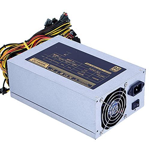 Asic Bitcoin neues Gold-Netzteil 1800W Plus ETH-Netzteil ATX Mining Machine unterstützt 8 GPU-Karten, die das Mehrkanal-GPU-Grafiknetzwerk 2000W/2200W/2400W/2600W unterstützen