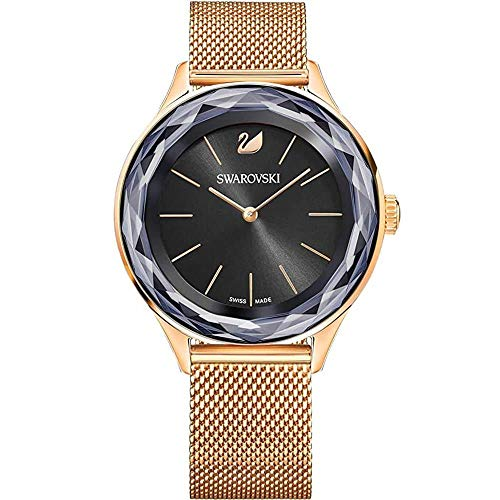 Swarovski Reloj Octea Nova, una Pulsera, una Milanesa, Negro, Dorado Rosa 5430424