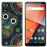 Yrlehoo Para Vodafone Smart X9, Cuero Funda de Silicona Suave para Vodafone Smart X9 Protectora Cover Case, Búho