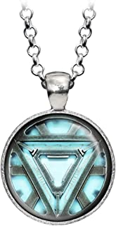 Wearable Treasures Arc Reactor Pendant, Iron Man Ironman Necklace, The Avengers Jewelry, Shield Jewellery, Superhero Earrings Gifts Gift, Geek Geeky Present Presents