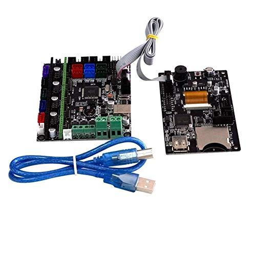 WY-YAN Modulplatine MKS-GEN L Integrated Controller Mainboard V1.0 + 3,2-Zoll-MKS-TFT32 farbenreiche LCD-Touch-Screen-Unterstützung Energie Lebenslauf Drucken BT APP for 3D-Drucker Monitor