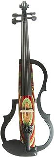 QING.MUSIC Stringed instrument Advanced Electric Violin 4/4 Violines eléctricos Accesorios de Rendimiento Profesional: Estuche, Arco, Resina, Cuerdas, Auriculares