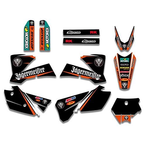 Gráficos calcomanías Etiqueta engomada for la KTM SX 125 200 250 300 450 525 2003-2004 Motocicleta gráfico de la Etiqueta engomada