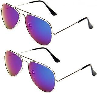 WODISON Classic Kids Aviator Sunglasses Bulk Reflective...