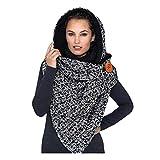 Scarf Shawl Multiple Combination Wear Fashion Winter Women Printing Button Soft Wrap Casual Warm Scarves Shawls Bib