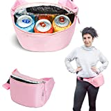 Gopacka Insulated Fanny Pack Cooler for Outdoors, Travel, Camping, Hiking, Sports Waist Pack Bag with Adjustable Strap Unisex (Pink)