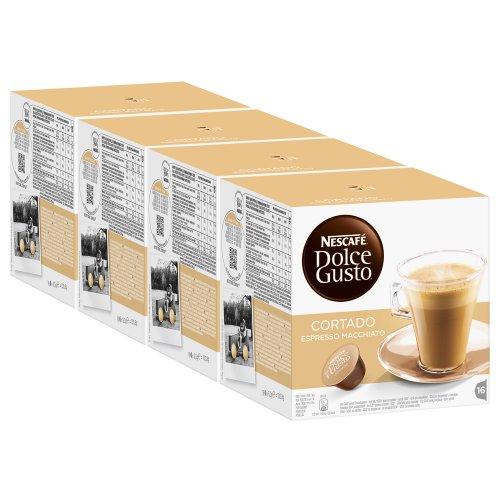 Nescafé Dolce Gusto Cortado Espresso Macchiato, Kaffee, Kaffeekapsel, 4er Pack, 4 x 16 Kapseln
