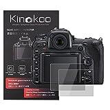 kinokoo Película de Vidrio Templado para Nikon D500 Crystal Clear Film Protector de Pantalla Nikon D500 sin Burbujas/antiarañazos (Paquete de 2)