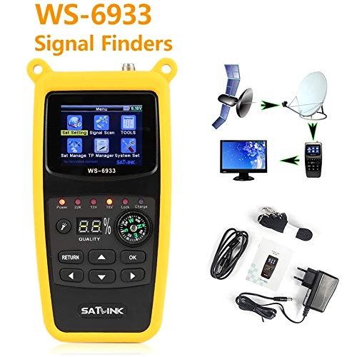 ZHITING-WS-6933 DVB-S2 FTA C&KU Band Digital Satellite Meter Finder con brújula