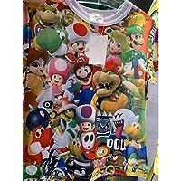 USJ 限定 総柄 Tシャツ キッズサイズ スーパーニンテンドーワールド マリオ