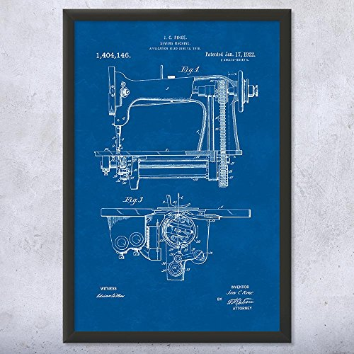 Best Prices! Patent Earth Framed Sewing Machine Print, Seamstress, Tailor Gifts, Quilting Bee, Sewin...