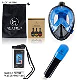 Upgraded 2020 Full Face Snorkel Mask Set Dry Top System Foldable 180 Degree Panoramic View Snorkeling Mask...