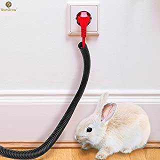 SunGrow Wire Loom Tubing Protect Wires from Rabbits, Cats and Other Pets, 20 Feet Long, Efficiently Manages Open Cables