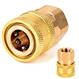 STARQ® Brass Adapter (Quick Release Coupling) M14 to 1/4 inch for Foam Lance and attachments. Suitable for All Starq Models