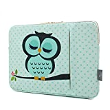 CoolBELL 17.3 Inch Laptop Sleeve Case Cover with Cute Owl Pattern Laptop Sleeve Bag for HP/Acer/Asus/Dell/Lenovo/Men/Women/Girls