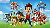 XHJY Programa De Televisión Paw Patrol Puzzle De Madera-Juguetes Educativos para Adultos Juegos Infantiles-Juguetes Educativos Decoración De Rompecabezas-500 Piezas(52 x 38 cm)