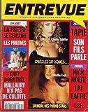 ENTREVUE [No 24] du 01/07/1994 - CLAUDIA SCHIFFER - TABATHA CASH - LA PRESSE SE CENSURE - LES PREUVES - CHEZ DOROTHEE - MALLAURY SANS CULOTTE - TAPIE - SON FILS PARLE - NICK NOLTE - LIO - BAFFIE
