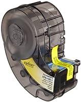 Brady XPS-125-1 IDXPERT PermaSleeve 0.235 Height, 1.015 Width, B-342 Heat-Shrink Polyolefin, Black On White Color Wire Marker Sleeves (100 Per Cartridge) by Brady