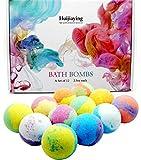 12 Piezas Bombas de Baño, Huijiaying Sales de Baño con Aceites Esenciales, Bomba de Baño Spa Baño de Burbujas,Regalo de cumpleaños y Navidad para mujeres, niñas, niños,día de la madre regalo