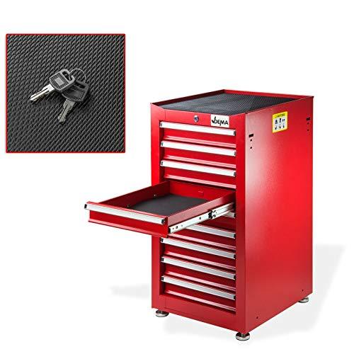 Schubladenschrank Werkzeugschrank Werkstattschrank 'Nico 9' 9 Schubladen rot