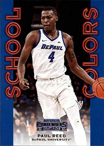 2020-21 Contenders Draft Picks School Colors Basketball #34 Paul Reed DePaul Blue Demons Official NCAA Licensed Trading Card by Panini America
